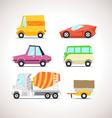 Car Flat Icon Set 5 vector image