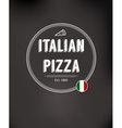 Pizza fast food background vector image