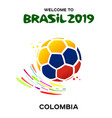 a soccer ball in the colors vector image vector image
