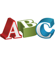 ABC font alphabet teaching letters vector image