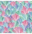 Abstract Pattern with Leaves in Pastel vector image
