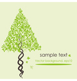 abstract stylized tree vector image vector image