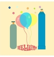 Balloons with helium vector image vector image