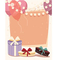 Birthday background with presents and balloons vector image vector image