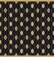 black and gold luxury abstract seamless pattern vector image