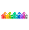 building and home set with working tool icons vector image vector image