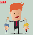 Business man control the doll - - EPS10 vector image