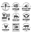 Butchery Black White Emblems vector image vector image