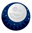 cartoon with scary moon vector image vector image