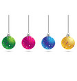 christmas set of balls decoration background with vector image vector image