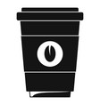 coffee plastic cup icon simple black style vector image vector image