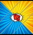 comic duel and fight diagonal concept vector image vector image