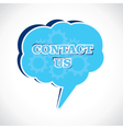 contact us message bubble vector image vector image