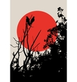 Crows on tree vector image