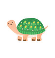 cute childish turtle character in scandinavian vector image