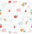 cute seamless pattern with pears and dotted vector image vector image