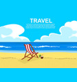 deck chair on tropical beach with coconut cocktail vector image vector image