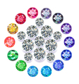 Diamond pentagon brooch vector image vector image