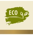 Eco logo design handdrawn template elements The vector image vector image