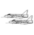 english electric lightning fmk 1 mk 3 vector image vector image