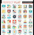 entertainment complex flat icon concept vector image