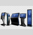five promotional interactive information kiosk vector image vector image