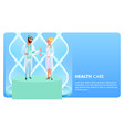flat banner public health care system vector image vector image