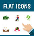 flat icon plant set of man seed glove and other vector image vector image