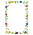 Frame colorful blossoms vector image vector image