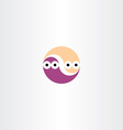 funny worms circle icon vector image