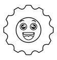 gears machine kawaii character vector image vector image