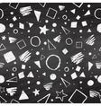 Geometric chalked seamless pattern vector image