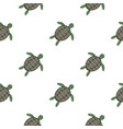 green sea turtle pattern seamless vector image