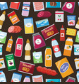Grocery food seamless pattern - colorful