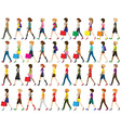 Group of people walking vector image vector image