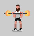 guy doing exercises vector image vector image