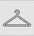 hanger icon in line style wardrobe hanger flat vector image