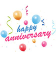 happy anniversary background vector image vector image