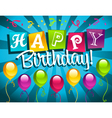 happy birthday vector image vector image