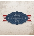 Happy Independence Day Holiday greeting Badge vector image vector image