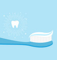 healthy tooth icon set toothbrush with toothpaste vector image vector image