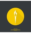icon of torch vector image vector image