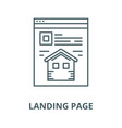 landing page line icon linear concept vector image vector image