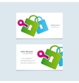 logo with business card vector image vector image