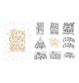 merry christmas lettering over with snowflakes and vector image vector image