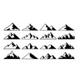 mountain peak icon tibet mountains berg hills vector image vector image