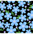 myosotis pattern black vector image