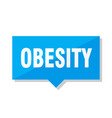 obesity price tag vector image vector image