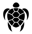 ocean turtle icon simple style vector image