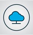 online cloud icon colored line symbol premium vector image vector image